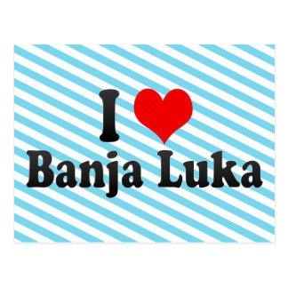 Cartão Postal Eu amo Banja Luka, Bósnia e Herzegovina