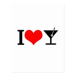 Cartão Postal Eu amo bebidas