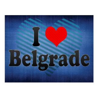 Cartão Postal Eu amo Belgrado, Serbia