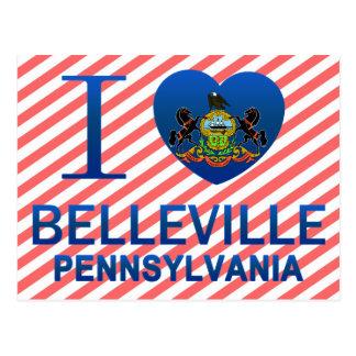 Cartão Postal Eu amo Belleville, PA