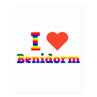 Cartão Postal Eu amo Benidorm