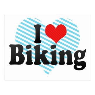 Cartão Postal Eu amo Biking