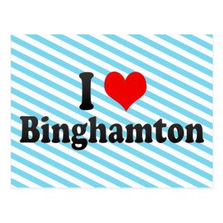 Cartão Postal Eu amo Binghamton, os Estados Unidos