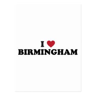 Cartão Postal Eu amo Birmingham Alabama