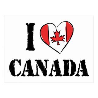 Cartão Postal Eu amo Canadá