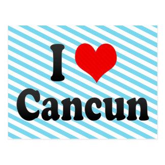 Cartão Postal Eu amo Cancun, México