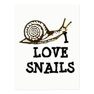Cartão Postal Eu amo caracóis