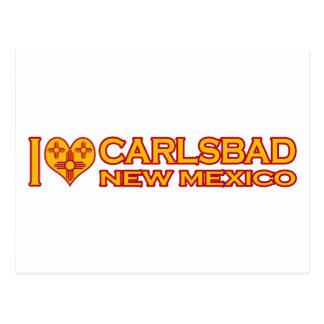 Cartão Postal Eu amo Carlsbad, nanômetro