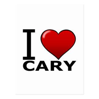 CARTÃO POSTAL EU AMO CARY, NC - NORTH CAROLINA