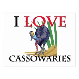 Cartão Postal Eu amo Cassowaries