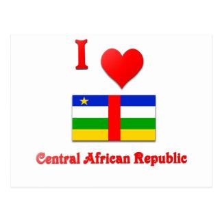 Cartão Postal Eu amo Central African Republic
