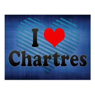 Cartão Postal Eu amo Chartres, France