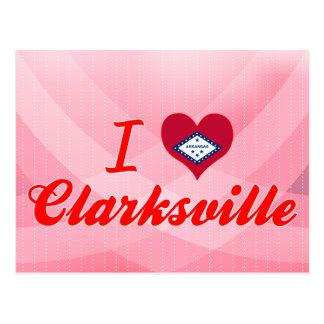 Cartão Postal Eu amo Clarksville, Arkansas