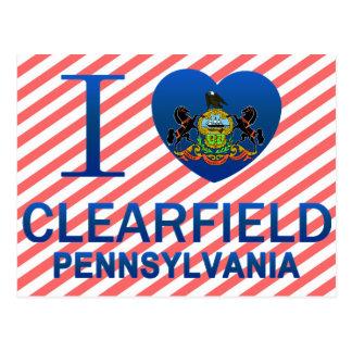 Cartão Postal Eu amo Clearfield, PA