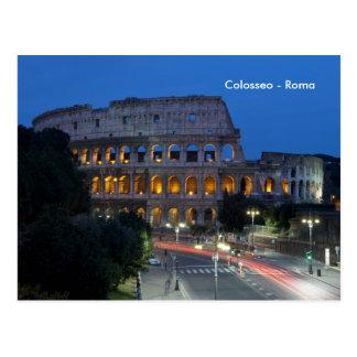 Cartão Postal Eu amo Colosseum em a noite