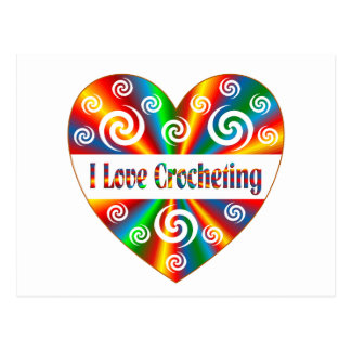 Cartão Postal Eu amo Crocheting