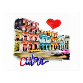 Cartão Postal Eu amo Cuba