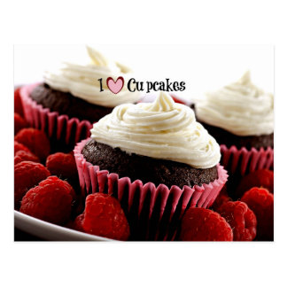 Cartão Postal Eu amo cupcakes
