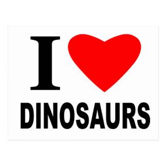Cartão Postal Eu amo dinossauros