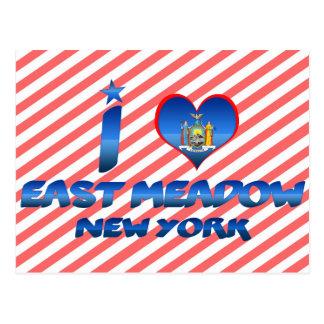 Cartão Postal Eu amo East Meadow, New York