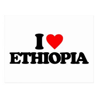 CARTÃO POSTAL EU AMO ETIÓPIA