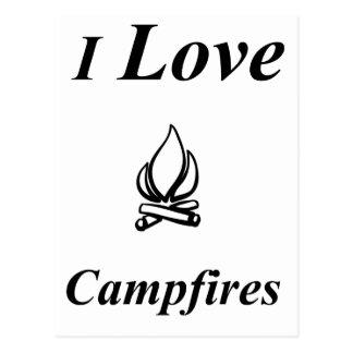 Cartão Postal Eu amo fogueiras