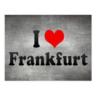 Cartão Postal Eu amo Francoforte, Alemanha