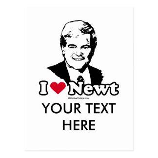 Cartão Postal Eu amo Gingrich