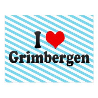 Cartão Postal Eu amo Grimbergen, Bélgica