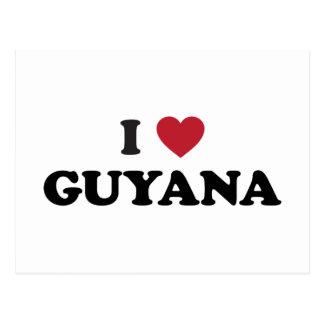 Cartão Postal Eu amo Guyana