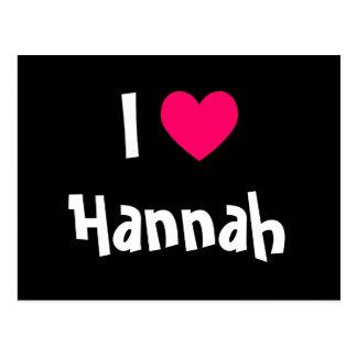 Cartão Postal Eu amo Hannah