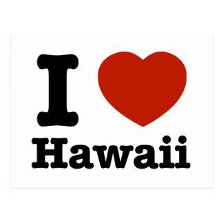 Cartão Postal Eu amo Hawai