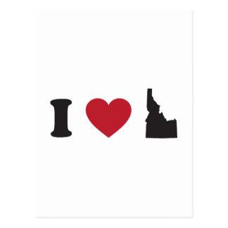 Cartão Postal Eu amo Idaho