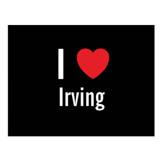 Cartão Postal Eu amo Irving