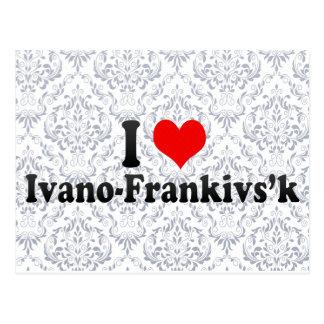 Cartão Postal Eu amo Ivano-Frankivs'k, Ucrânia