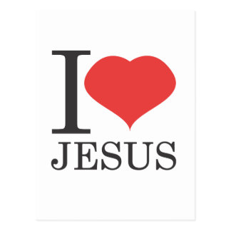 Cartão Postal Eu amo JESUS