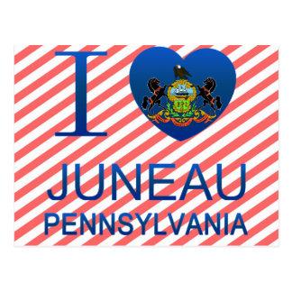 Cartão Postal Eu amo Juneau, PA
