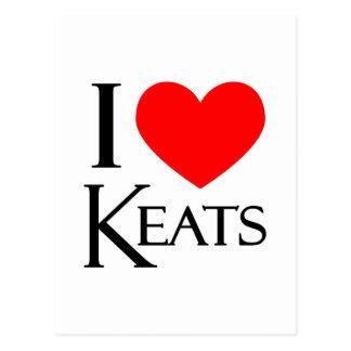 Cartão Postal Eu amo Keats