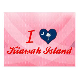 Cartão Postal Eu amo Kiawah Island, South Carolina