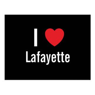 Cartão Postal Eu amo Lafayette