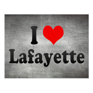 Cartão Postal Eu amo Lafayette, os Estados Unidos