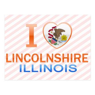 Cartão Postal Eu amo Lincolnshire, IL