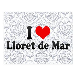 Cartão Postal Eu amo Lloret de Mar, espanha