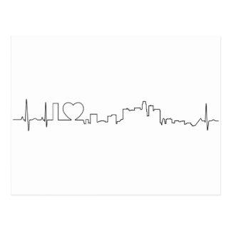 Cartão Postal Eu amo Los Angeles em um estilo extraordinário do