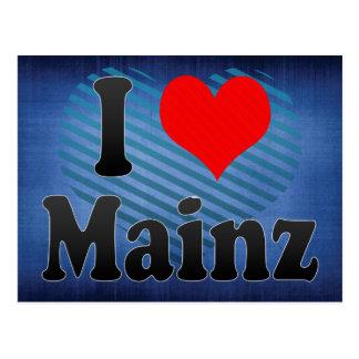 Cartão Postal Eu amo Mainz, Alemanha