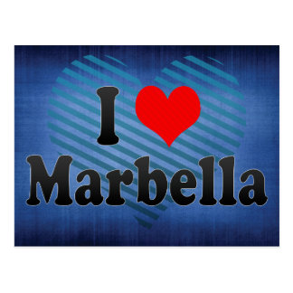 Cartão Postal Eu amo Marbella, espanha