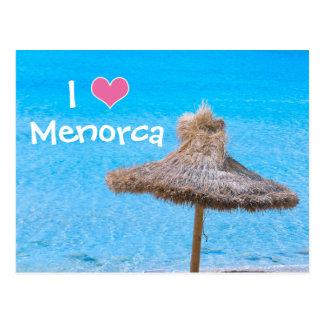 Cartão Postal Eu amo Menorca