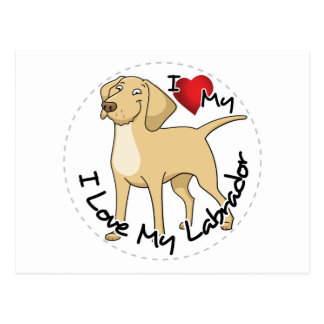 Cartão Postal Eu amo meu cão de Labrador