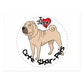 Cartão Postal Eu amo meu cão engraçado & bonito adorável feliz