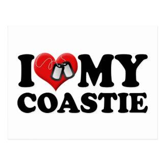 Cartão Postal Eu amo meu Coastie